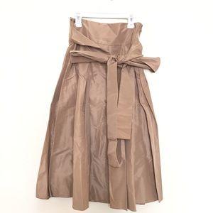 BCBGMaxazria Size 4 Pleated Belted Skirt Chiffon